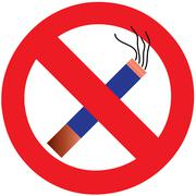 no smoking cigarette area sign for public health vector - stock illustration