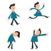 businessman emotion - stock illustration