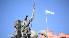 Buenos Aires - Casa Rosada Flag Stock Footage