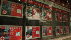 Real Estate Advertisements in Shanghai Stock Footage