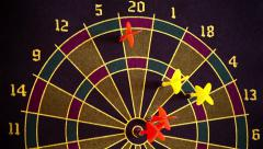 Darts Game, Dartboard - stock footage