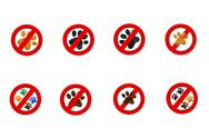 Stock Illustration of interdiction paw  symbol signs