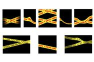 Stock Illustration of set of  tapes police line do not cross  and do not drive  here