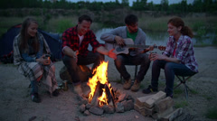 Campfire Stories Stock Footage