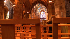 St Giles Cathedral - Edinburgh Scotland Stock Footage