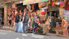 La Paz shop with dog Stock Footage