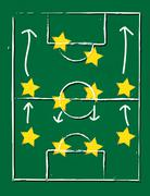 Football pitch - eps10 Piirros
