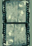 Grunge vector film frame Stock Illustration
