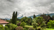 Stock Video Footage of Merano cloud time lapse