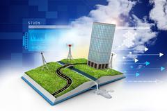 cityscape - stock illustration