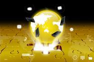 Stock Illustration of global network media concept