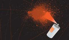 Spray splatter background Stock Illustration