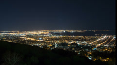 Time lapse of the San Francisco bay area from high in the Berkeley Hills Stock Footage