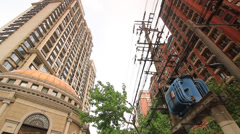 Pan over Condominium Buildings in Shanghai Stock Footage