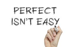 Hand writing perfect isnt easy Stock Illustration