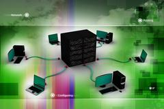 computer networking - stock illustration