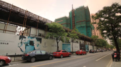Real Estate Construction and Advertisement in Shanghai - stock footage