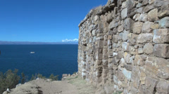 Bolivia Island of Sun at Pilkokaina  Stock Footage
