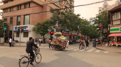 Street life: Shanghai Former French Concession Stock Footage