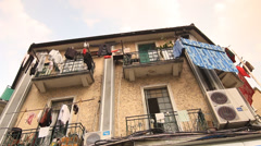 View of old house Shanghai Former French Concession Stock Footage