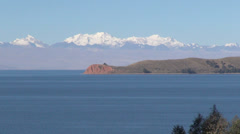 Bolivia View from Island of Sun s Stock Footage