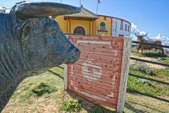 bullrings in andalusia - stock photo