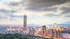 Time lapse of Nice view of Taipei City, Taiwan Stock Footage
