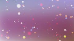 Color particles Stock Footage