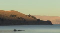 Bolivia hills around Lake Titicaca s Stock Footage