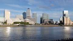 Time-lapse of Canary wharf, prores 422 4K Stock Footage