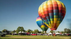 Temecula Wine and Hot Air Balloon Festival Time Lapse Video Stock Footage