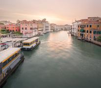 View to the grand canal and Academy in Venice - stock photo