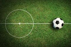 Soccer ball football sport for play game and for text and message design Stock Illustration