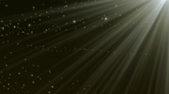 Glow particles rays Stock Footage