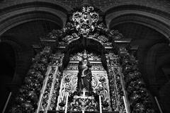 evora lateral altar - stock photo