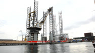 Stock Video Footage of Offshore construction Jack up