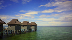 Chalet at Mabul Island, Sabah Stock Footage