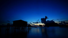 Sunrise at Maiga Island, Sabah Stock Footage