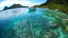 Tun Sakaran Marine Park tropical island Semporna, Sabah Stock Footage