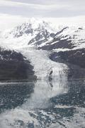 Global warming, receding glacier, Alaska - stock photo