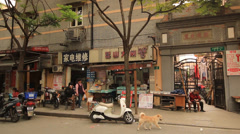 Street life in Shanghai Former French Concession II Stock Footage
