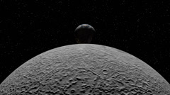 Stock Video Footage of Medium Speed Flight around Earth From the Moon