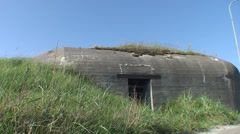 Hirtshals War bunkers dunes beach Stock Footage