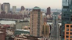 Manhattan Bridge and Brooklyn Bridge in New York City Stock Footage
