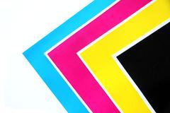 Colors sheets triangular. Stock Photos
