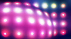Glowing lights bulge loop Stock Footage