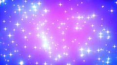 Pink Nebula Looping Glowing Stars Background 1 - stock footage