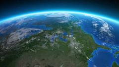 Earth seen from space. United States. Stock Footage
