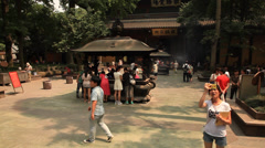 Lingyin Temple 4  Stock Footage