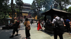 Lingyin Temple 5 Stock Footage